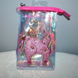 "BETSEY JOHNSON ""PINK UNICORN"" KEY CHAIN"